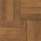 Nexus 12&quot; x 12&quot; Vinyl Tile in Medium Oak Parquet