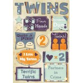 Cardstock Stickers Terrific Twins
