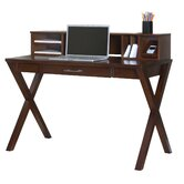 "Worx Wood Veneer Office 8"" H x 47.5"" W Desk Hutch"