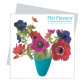 Flat Flowers Window Stickers Originals in Anemone Blue