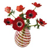 Flat Flowers Window Stickers Originals in Anemone Red