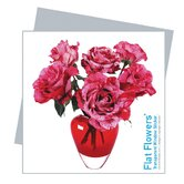 Flat Flowers Greetings in Roses Mix Heart