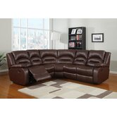 Novella Bonded Leather Corner Group Sofa