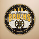 "NHL 12"" Art Glass Clock"