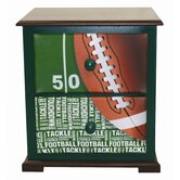 Football 50 yard Line Nightstand
