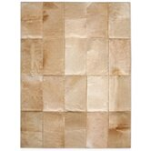 Patchwork Cowhide Mies Wheat Rug