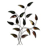 Autumn Teardrop Branch Metal Wall Art