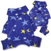Cozy Midnight Stars Fleece Turtleneck Dog Pajamas / Bodysuit