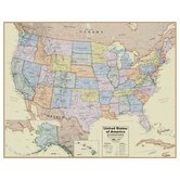Hemispheres Boardroom USA Laminated Wall Map