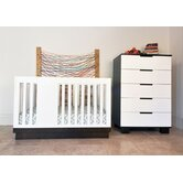 Harlow 3-in-1 Convertible Crib, Modo Changing Table, and Modo 5-Drawer Dresser