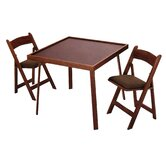 "35"" Oak Folding Domino & Game Table Set"
