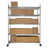 Five Tier NSF Extra Large Commercial Grade Shelving Rack in Chrome