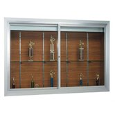 Deluxe Recessed Display Case with Sliding Doors