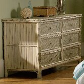Coastal Chic 6 Drawer Standard Dresser