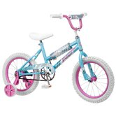 "Girl's 16"" Gleam Cruiser Bike with Training Wheels"