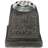 In Loving Memory Vase Garden Ornament