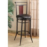 "Midtown 25"" Swivel Wood Back Counter Stool"
