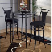 Cierra Bistro Set - Black Stools