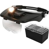 Magnifying Head Visor with Adjustable Light