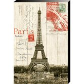 Eiffel Tower Postcard Painting