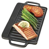 "Pre-Seasoned 12.75"" Reversible Grill Pan and Griddle"