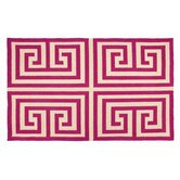 Greek Key Pink Rug