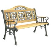 Regency Cast Iron Camelback Park Bench