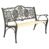 Deer Cast Iron Park Bench