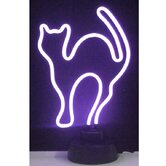 Purple Cat Neon Sign