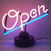 Open Script Neon Sign