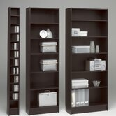 "Spectrum Narrow 80"" Bookcase in Coffee"