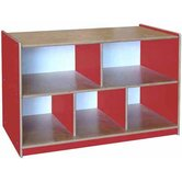 Classroom Color Two Shelf Storage Unit