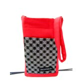Red and Circles Crutch Bag