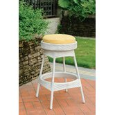 Bahia 24&quot; Wicker Backless Barstool