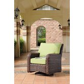 Saint Tropez Wicker Swivel Glider