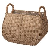 Woven Rattan Basket with Rope Handle