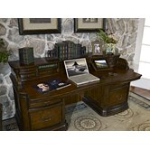 Winsome Credenza Desk with Printer Pullout