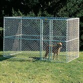 Large Chain Link Portable Dog Kennel