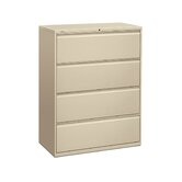 "800 Series 42"" W Four-Drawer Lateral File with Locks"
