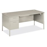 "Metro Classic 66"" W Left Pedestal Executive Desk"