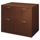 Attune Series Lateral File, Two-Drawer, 36w x 24d x 29-1/2h, Shaker Cherry