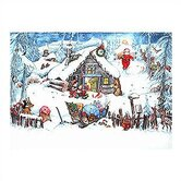 Small Santa and Cabin Advent Calendar