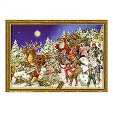 Large Santa and Sled Advent Calendar