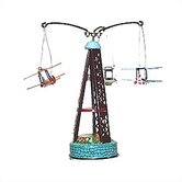 Tin Biplane Carousel Toy