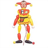 Wooden Jester Jumping Jack Toy