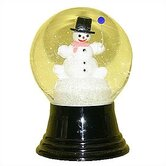 Snowman with Balloon Snow Globe