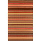 Stripes Warm Brown Rug