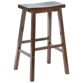 "Bar Stool - Saddle Seat 29"" in Walnut"