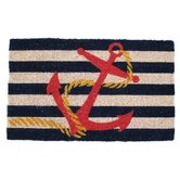 Anchor Handwoven Coconut Fiber Doormat