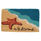 Starfish Welcome Handwoven Coconut Fiber Doormat